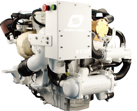 Hyundai SeaSall D170 diesel engine