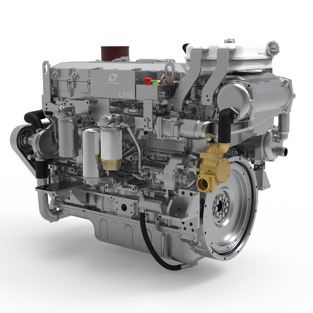 Hyundai Seasall L500 diesel engine