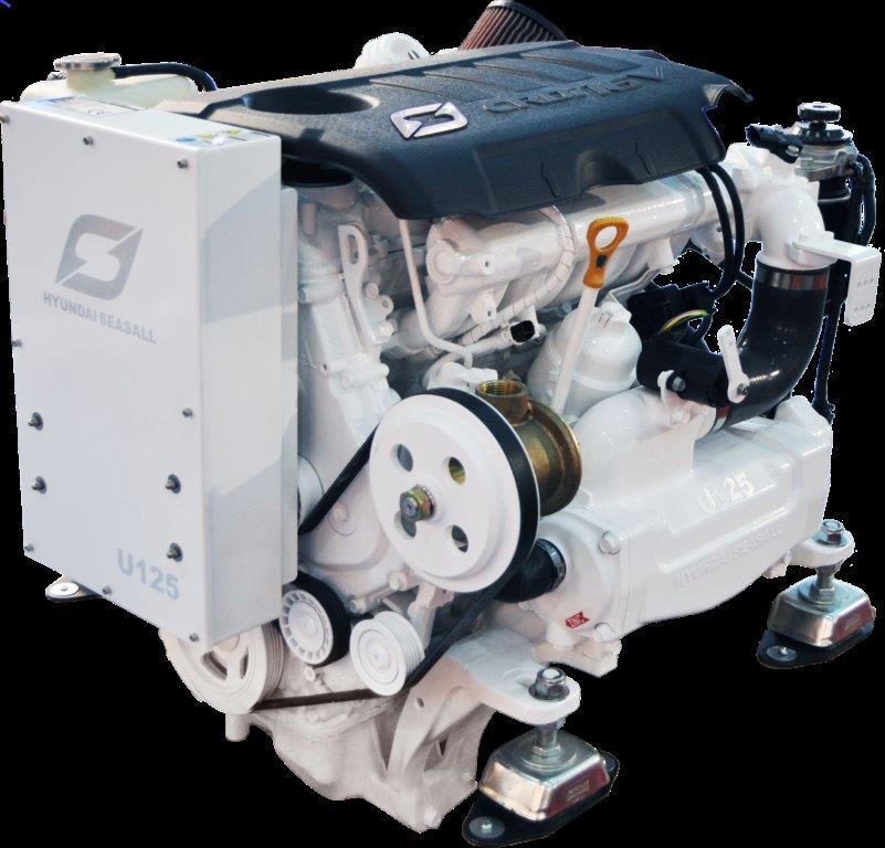 Hyundai Seasall U125 diesel engine install